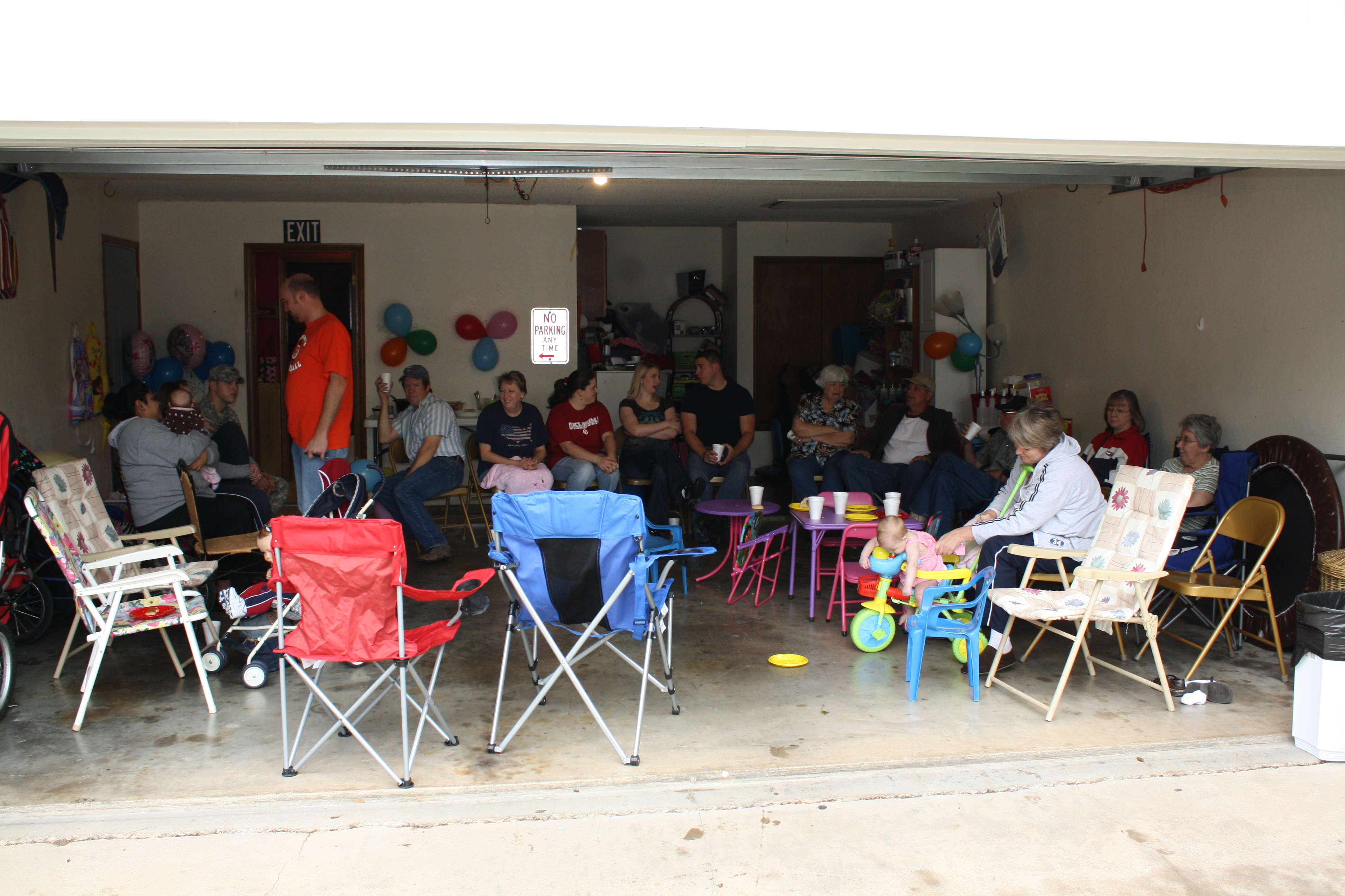 neat garage ideas - A Double Birthday Party