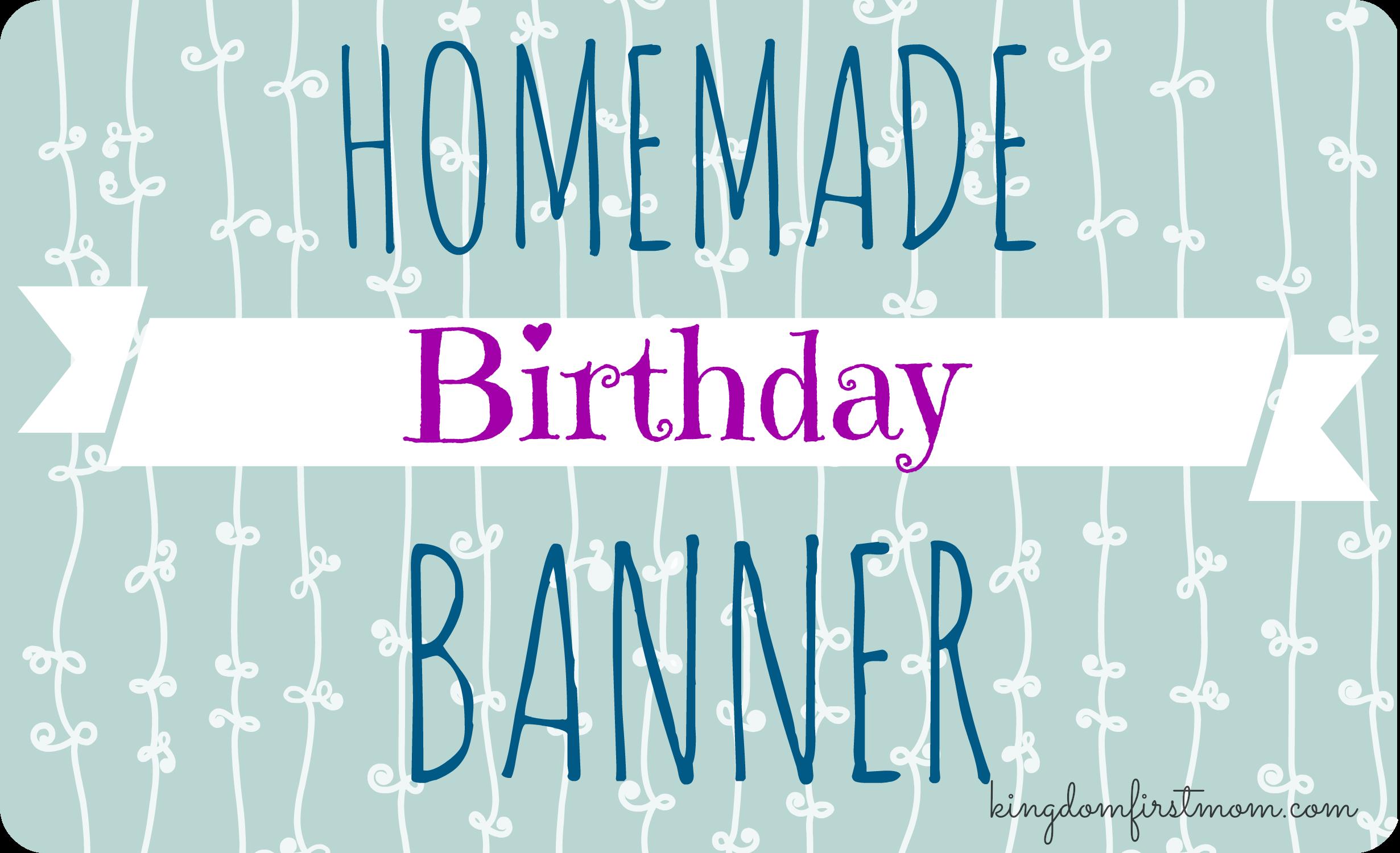 homemade birthday banner craft