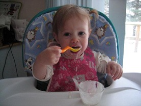eating yogurt