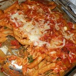 Chicken Pasta & Spinach Bake