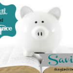 Faith & Finance: Saving