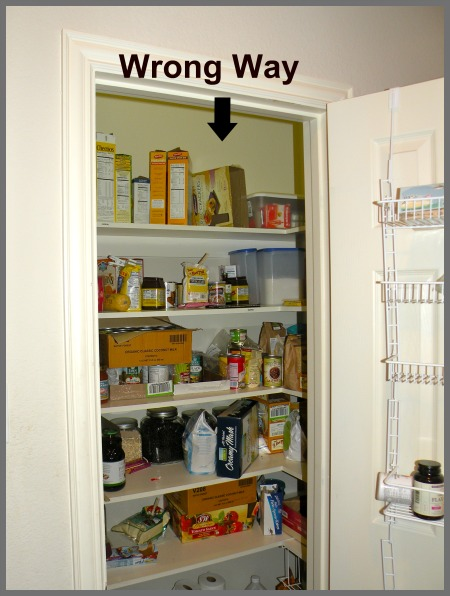 how not to organize a pantry