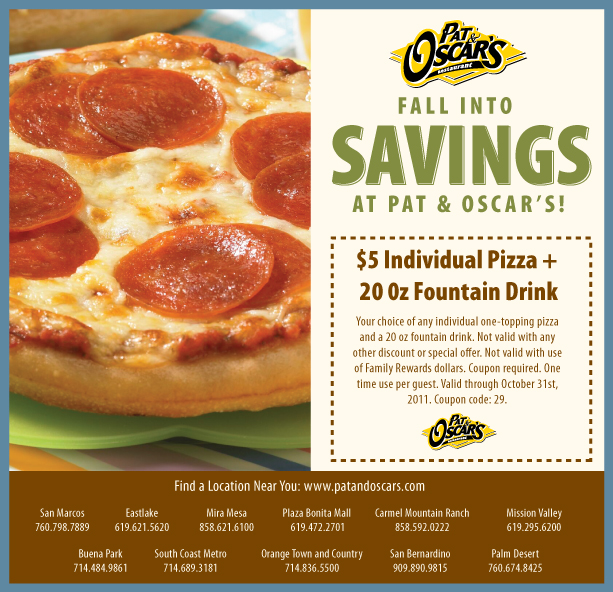 Pats pizza coupon code