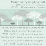 Simplifying for Fall: Clothing, Laundry, Kitchen, and Meal Plans