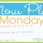 Menu Plan: Week of January 21