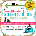 The Ultimate Homemaking eBook Bundle Sale – $29.97 {$600+ Value!}