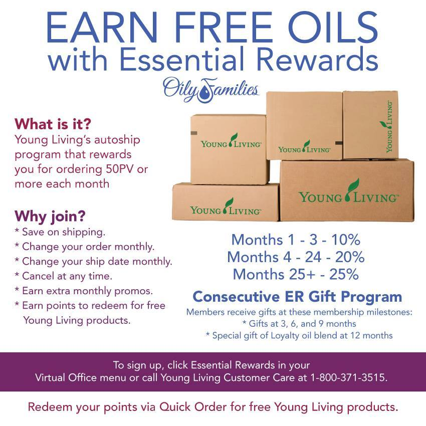 Young Living Essential Rewards: Earn FREE Oils || AmyLovesit.com