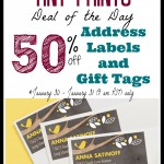50% off Address Labels and Gift Tags from Tiny Prints