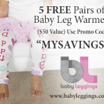 5 Free Pairs of Baby Leg Warmers