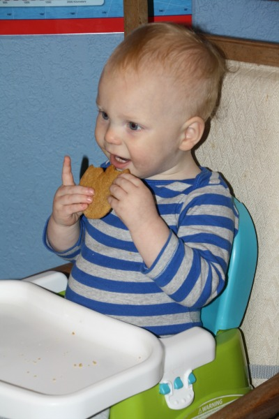 Enjoying a sugar cookie at our Disney Side party