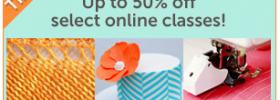 Craftsy 50% off Flash Sale