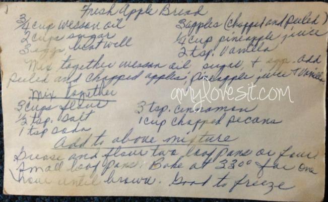 Apple Bread Original Recipe