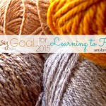 Artsy Goal for 2015: Learning to Knit