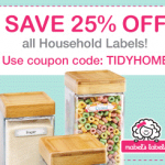 25% off Household Labels