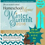 Homeschool Moms' Winter Summit Twitter Party