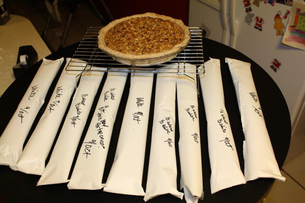 Pecan pie and pie crusts