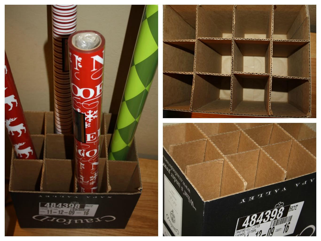 frugal wrapping paper storage system. Black Bedroom Furniture Sets. Home Design Ideas