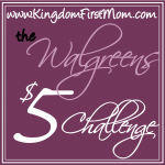 Walgreen's $5 Challenge (1)