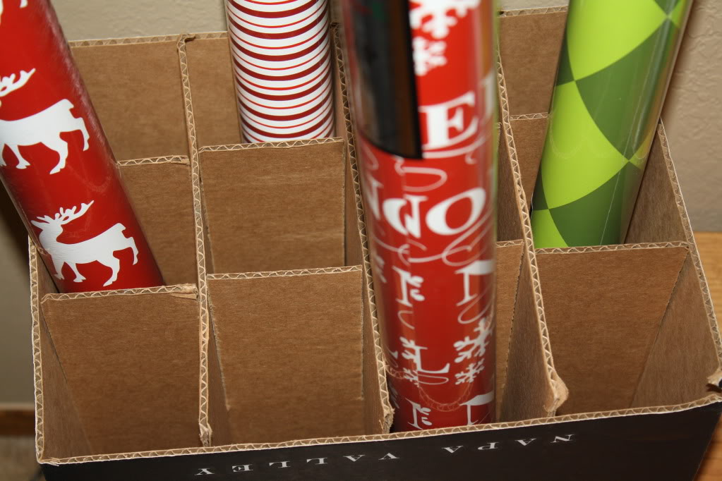 Cheap Wrapping Paper Storage Container Revisited