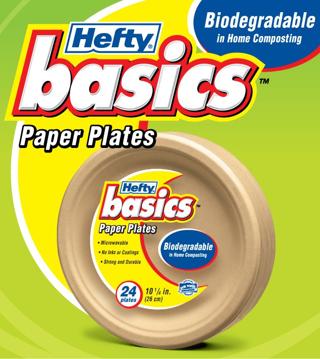 This line of paper plates are biodegradable in-home composting and free of inks dyes or coatings. Hefty® Basics™ paper plates are stronger ...  sc 1 st  Amy Loves It! & Hefty Basics: Biodegradable Paper Plates Giveaway