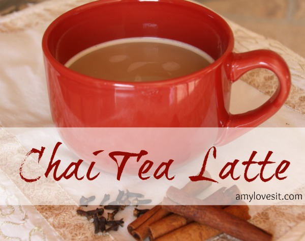Easy Homemade Chai Tea Latte  AmyLovesIt.com