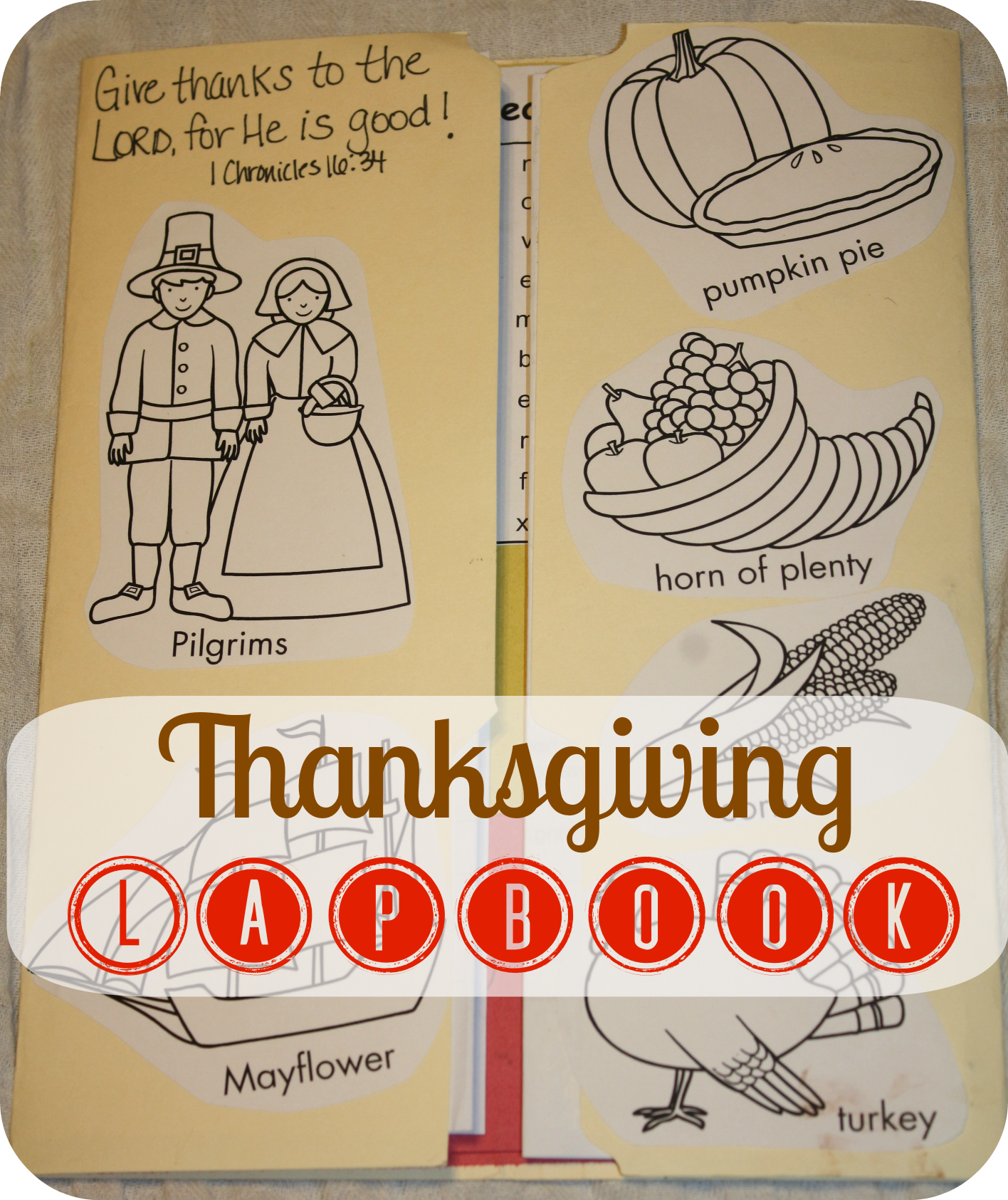 Thanksgiving Cookbook Cover : Thanksgiving lapbook