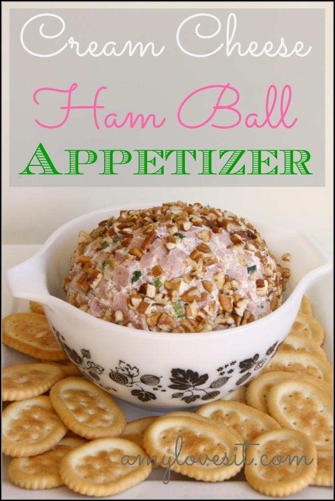 Cream Cheese Ham Ball Appetizer
