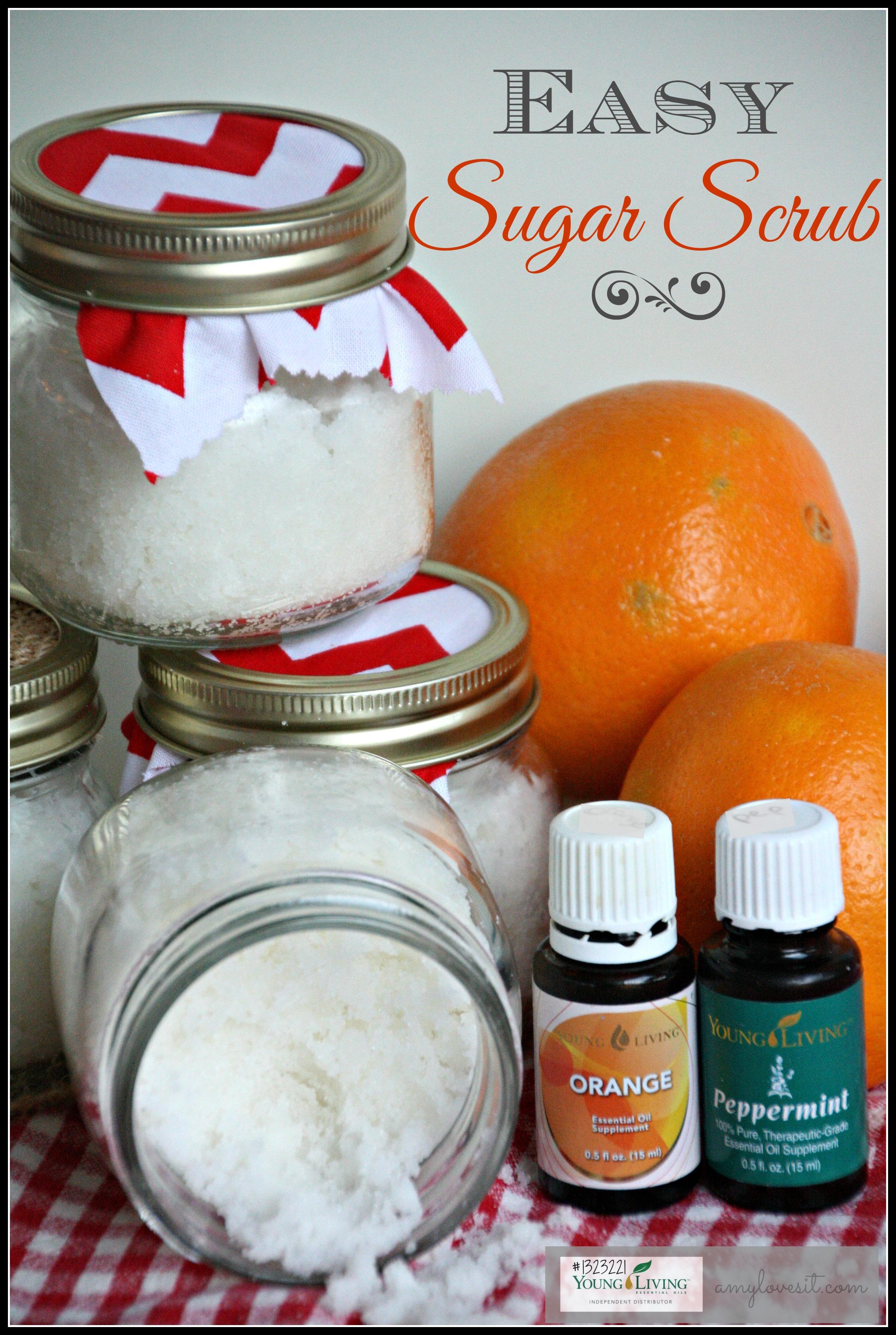Easy Diy Sugar Scrub: DIY Orange And Peppermint Sugar Scrub