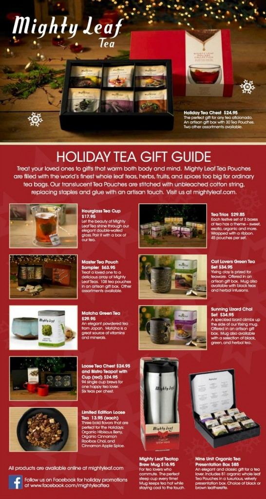 Mighty Leaf Holiday Gift Guide 2014
