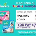 "Babies ""R"" Us Pampers Sale + Coupon"