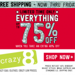 Crazy 8 Black Friday Sale