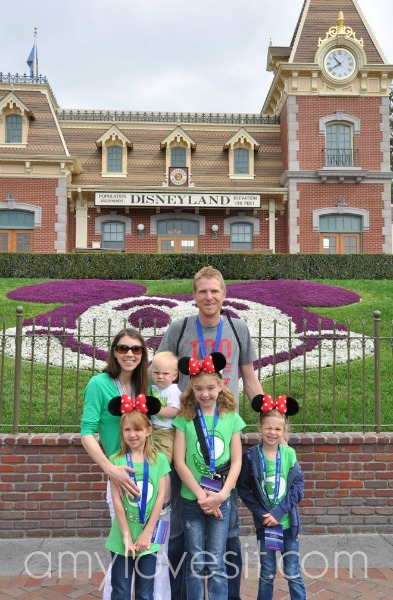 Our family at Disneyland, April 2014