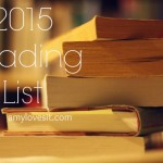2015 Reading List | AmyLovesIt.com