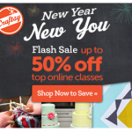 Craftsy's New Year, New You Flash Sale: up to 50% Off!