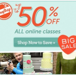 Craftsy: 50% off all Online Classes