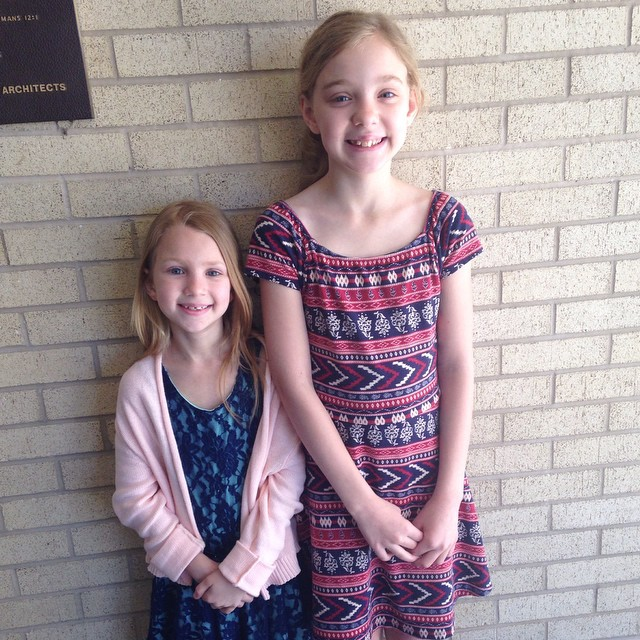 "Both girls received a ""1"" Superior at their district piano competition today!"