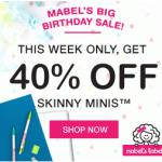 Mabel's Labels: 40% off Skinny Minis