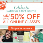 Craftsy: Up to 50% off Online Classes