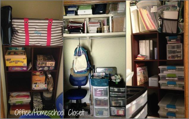 Rearranging - Office and Homeschool Closet