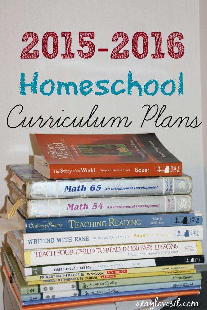 2015-2016 Homeschool Curriculum Plans | AmyLovesIt.com