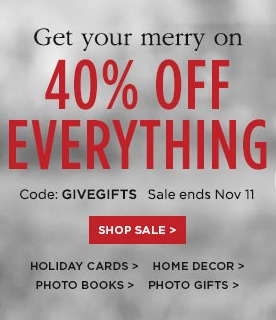 Shutterfly 40 off Everything | AmyLovesIt.com