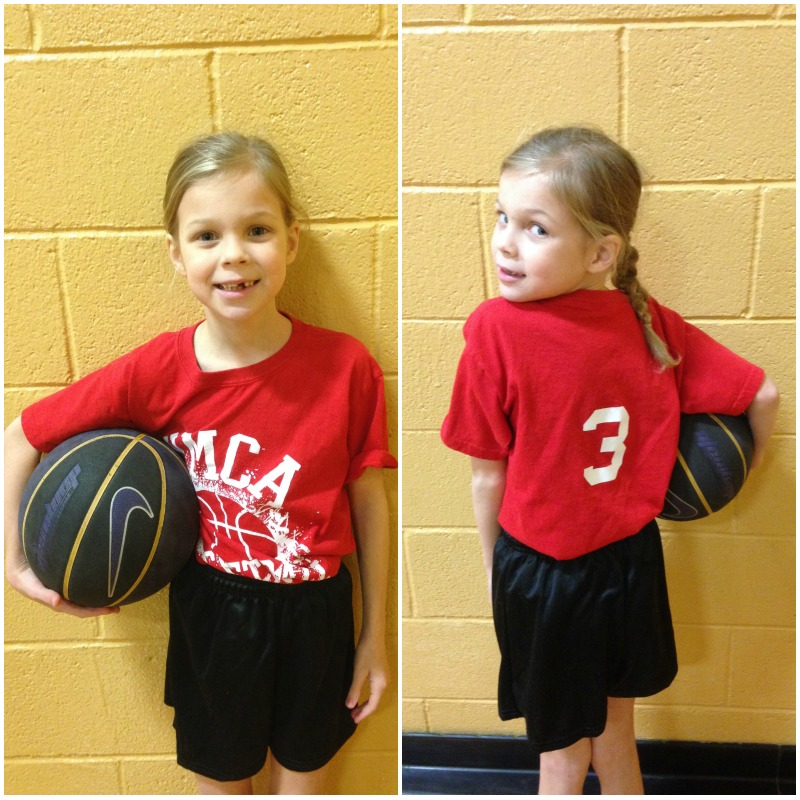 Meleah's first basketball game