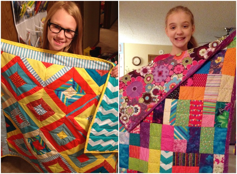 Reese and Abby Grace's completed quilts