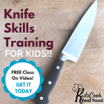 Free Knife Skills Training for Kids | AmyLovesIt.com